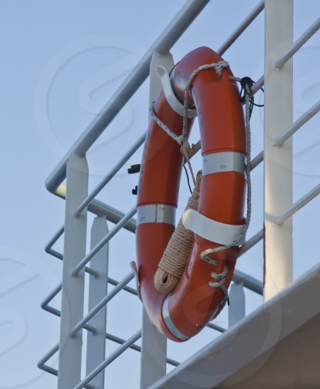 Lifesaver on Greek ferry boat photo