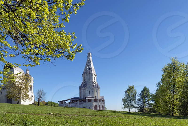 Ascension church at Kolomenskoe park Moscow Russia photo