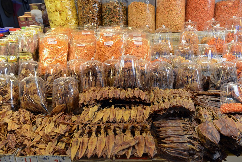 dry fish at the day Market in the city of Phuket on the Phuket Island in the south of Thailand in Southeastasia. photo