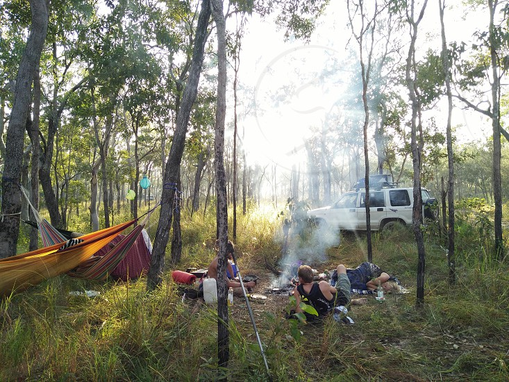 Camping summer spring adventure travel outdoors friends good company good times. photo