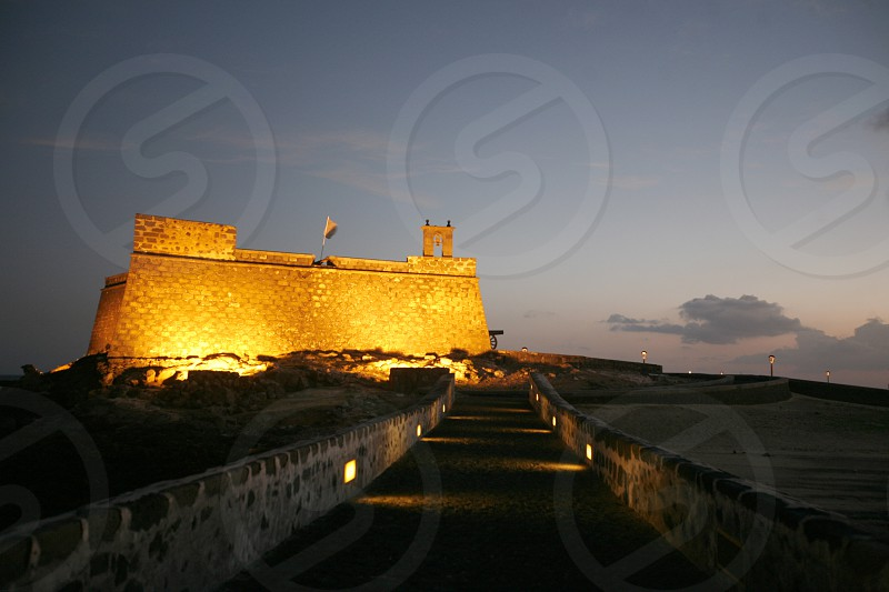 The Castillo de San Jose of the City of Arrecife on the Island of Lanzarote on the Canary Islands of Spain in the Atlantic Ocean. on the Island of Lanzarote on the Canary Islands of Spain in the Atlantic Ocean. photo