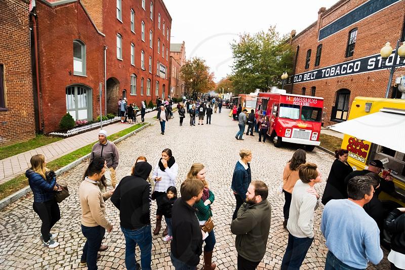 Food truck rodeo on Bridge St in DanvilleVA street food photo