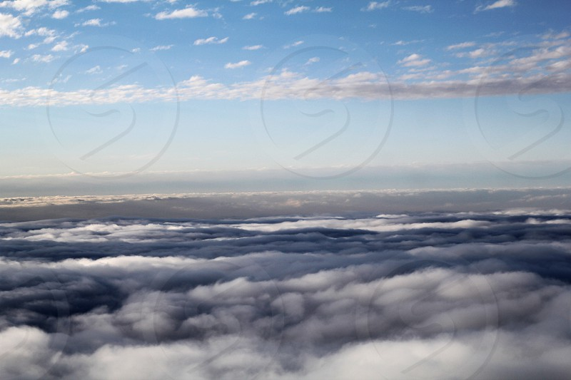 Clouds at elevation from an aeroplane photo