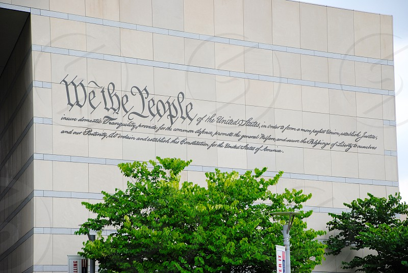 we the people printed building photo
