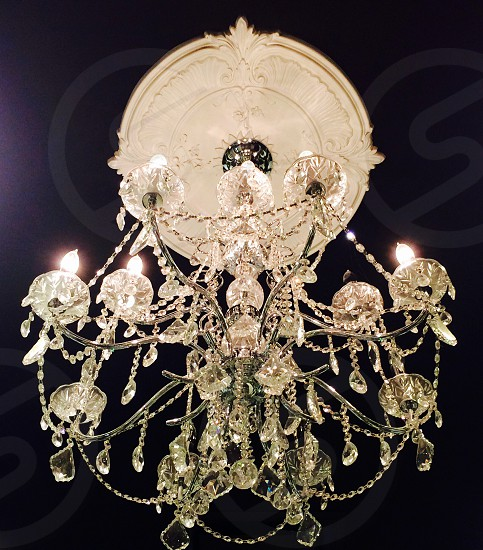 glass chandelier photo
