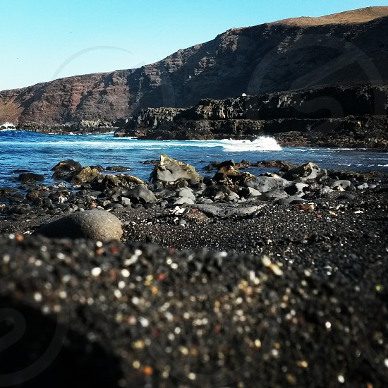 Black sand.volcanic island.lanzarote.samsung 4 photo