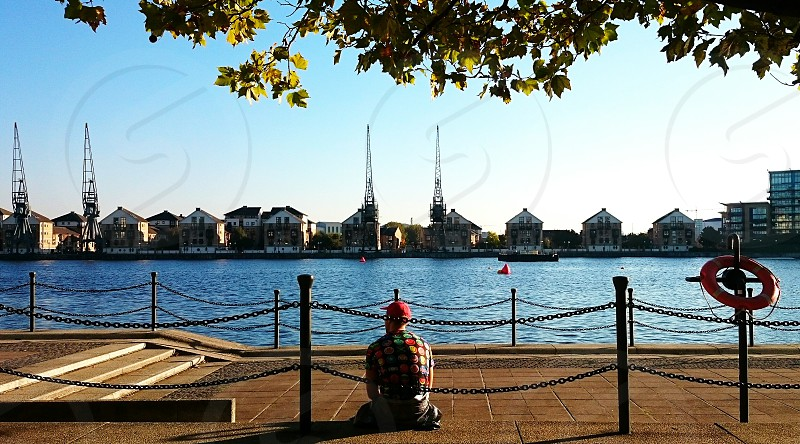 Holiday silence holiday thoughts! Moment captured @ Royal Victoria Dock London UK. photo