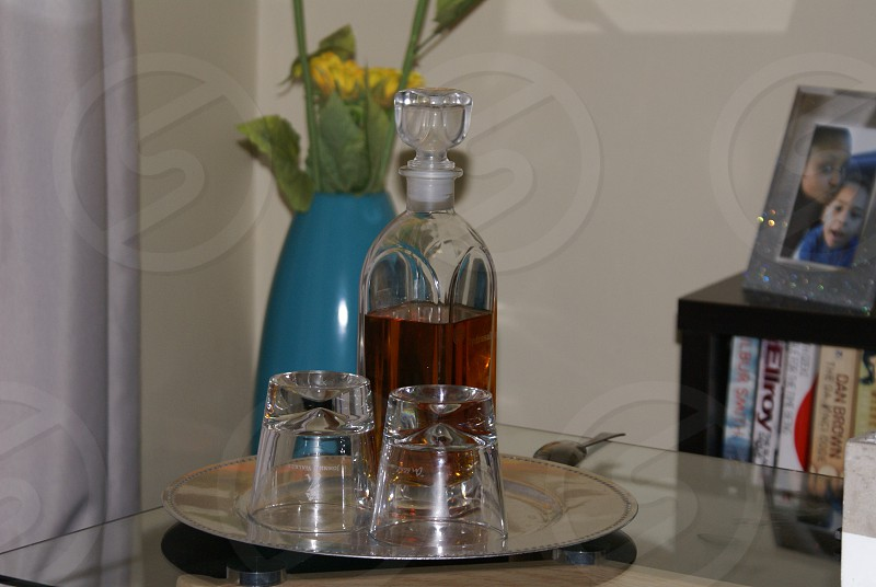 home whiskey glass photo