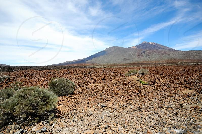 Peak of del teide volcano in Tenerife (Canary Island). photo