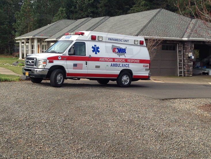American Medical Response (AMR) ambulance photo