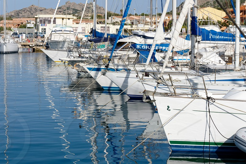 Marina at Palau in Sardinia photo