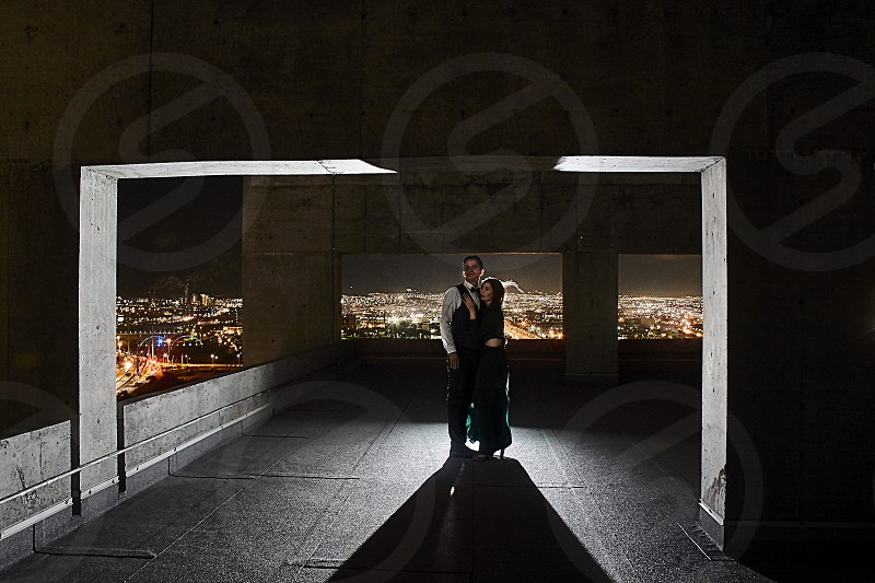 A beautiful couple enjoying themselves. photo
