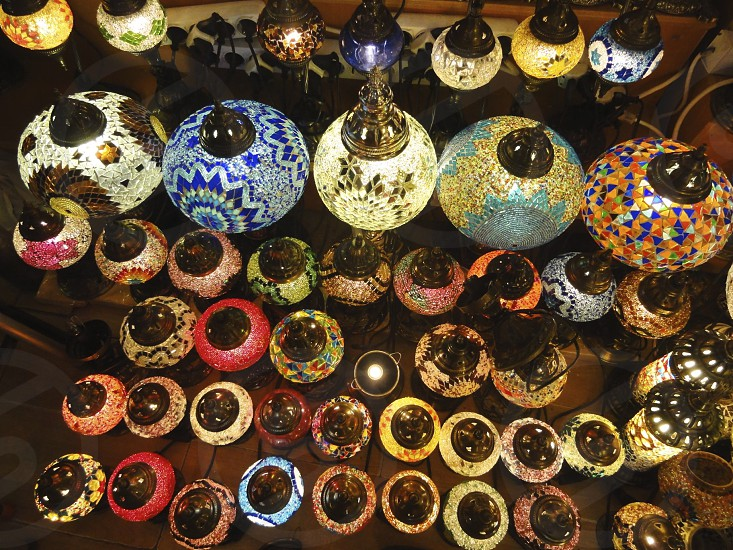 Istanbul lamps photo
