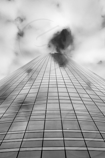 glass facade Paris photo