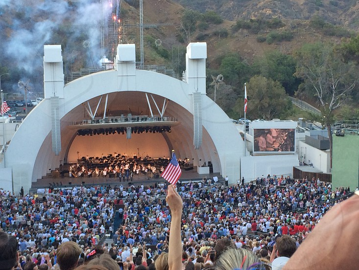 Hollywood Bowl American Flag Independence Day 4th of July Freedom Music Fireworks photo