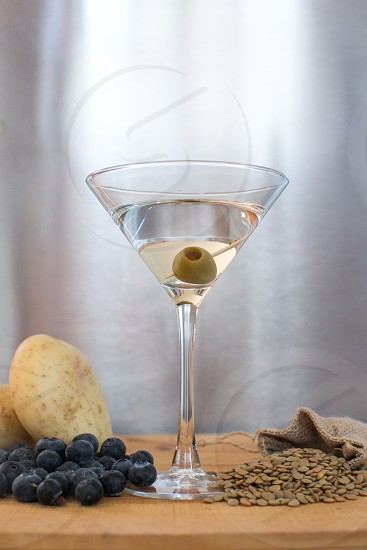 martini vodka drink industrial photo