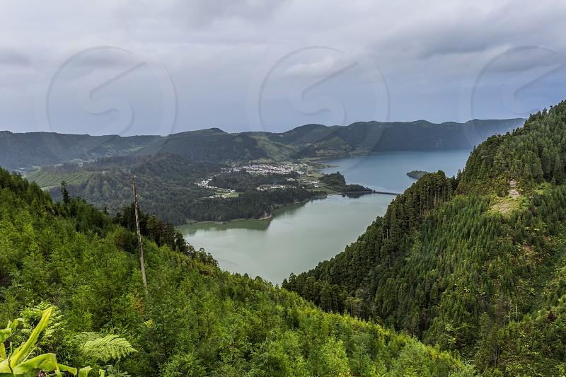 Lagoon of the Seven cities Archipelago of the Azores photo