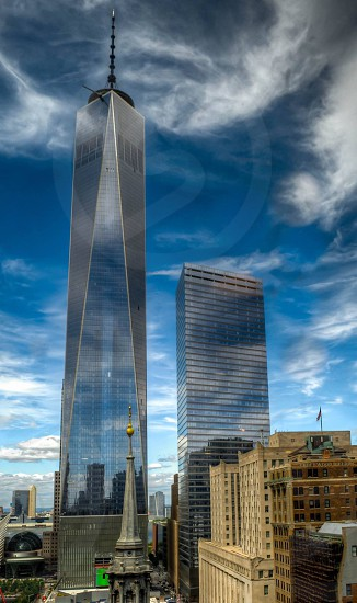 New York Freedom Tower Manhattan Downtown 9/11 Memorial  photo
