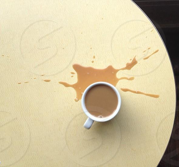 minimalism coffee spill photo