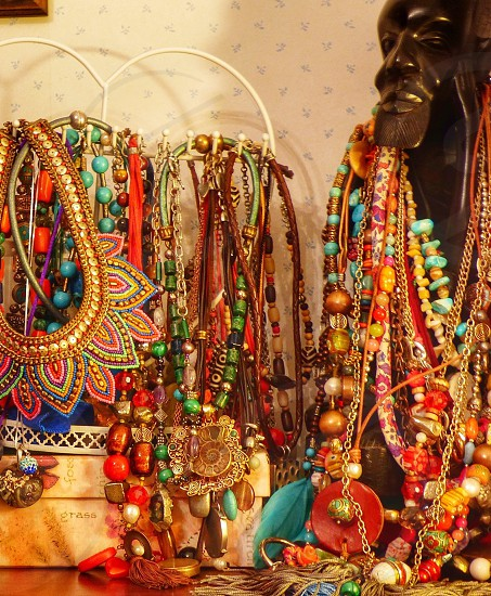 Collection of necklaces girlish complements photo