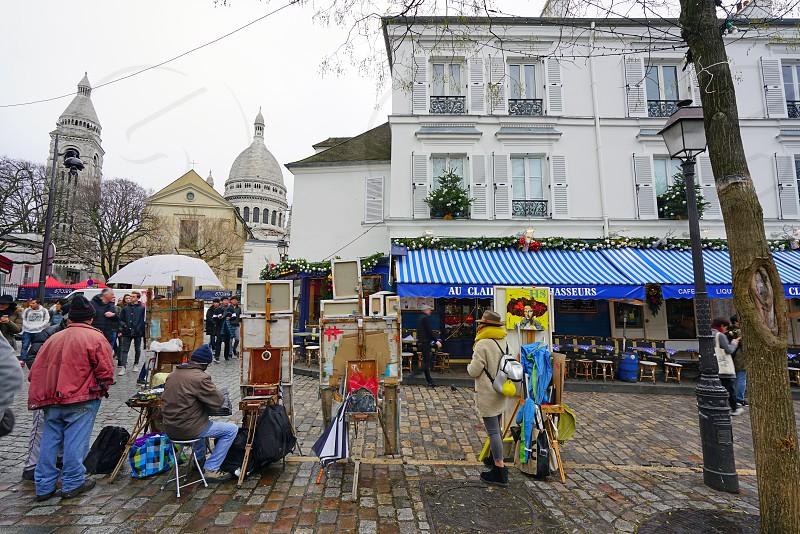 Place du Tertre in Paris France photo