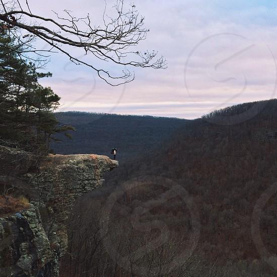 mountain cliff view photo photo