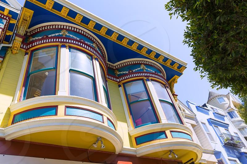 San Francisco Victorian houses in Haight Ashbury of California USA photo