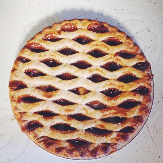 round pie photo