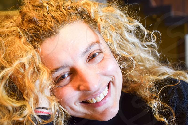 Beautiful Happy Smiling Blonde Woman photo