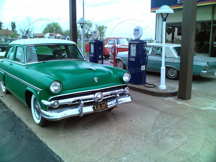 Living museum of roadside gas station. Story: owner retired got bored in retirement turned his gas station into roadside museum. Located in Missouri. photo