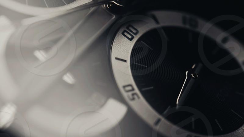 Beautiful man luxury watch macro view photo