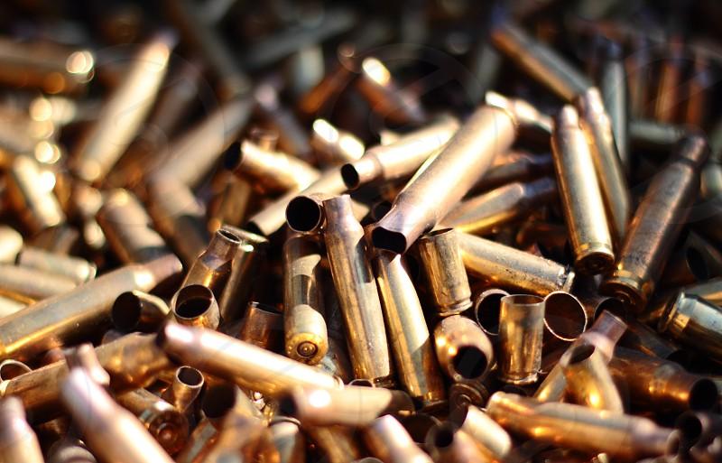 Bullet casings shot in Las Vegas USA photo