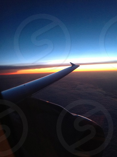 Sunset while flying photo