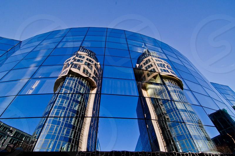 blue high rise buildings photo