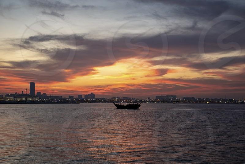 sunsets color dramaticDohaQatar photo