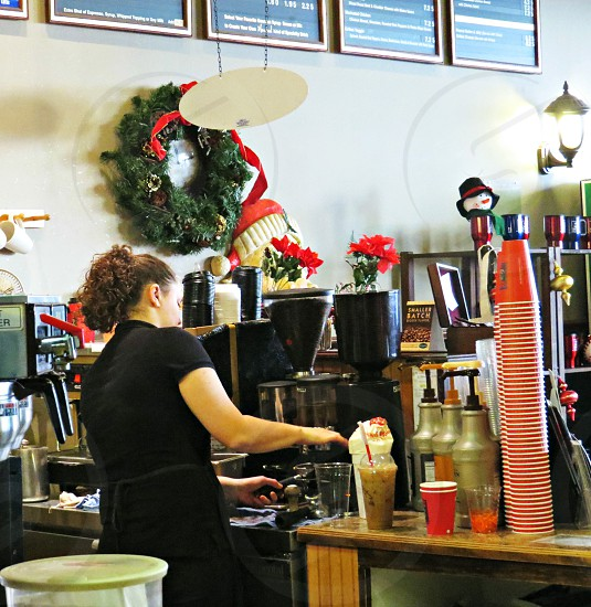 Barista coffee coffee shop photo