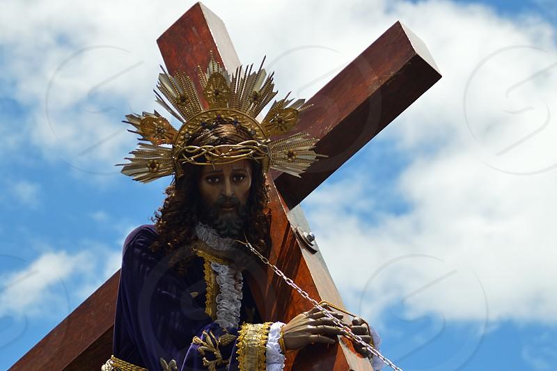 Prosesion of Jesus nazareno in Heredia Costa Rica photo