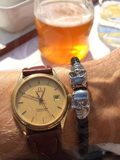 North skull bracelet and beer  photo