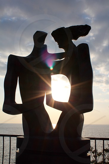 silhouette of abstract sculpture photo