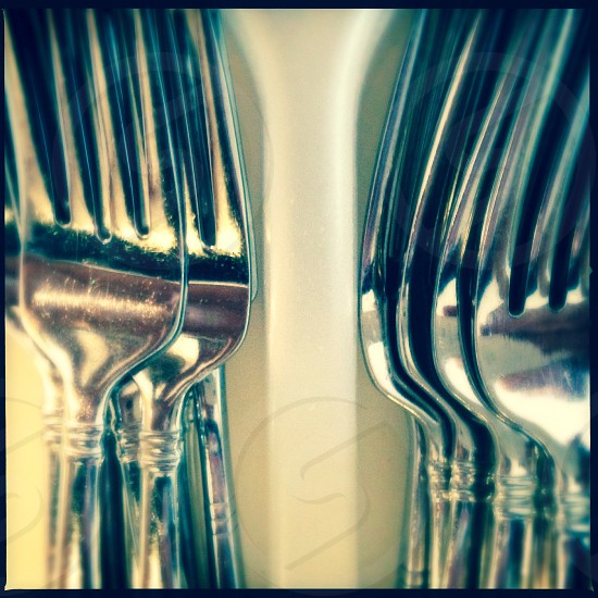 Forks - close up photo
