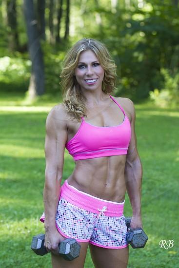 exercise girl photo