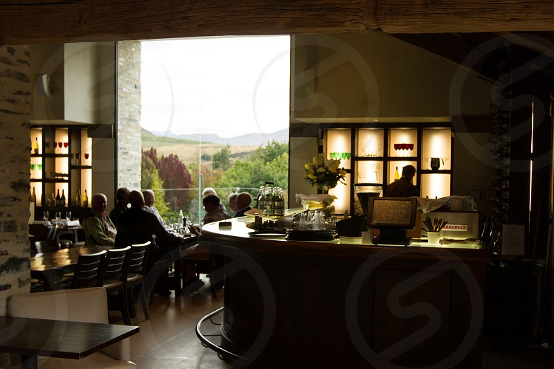 Amisfield Winery and restaurant interior.  Arrowtown/Queenstown New Zealand.  Exterior and food images available as well. photo