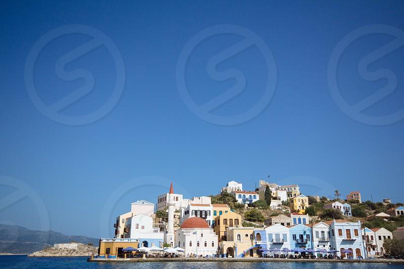 houses beside sea photo