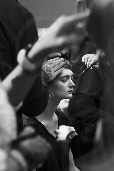 LOCATION: Paris France STYLE: Fashion portrait environmental photo