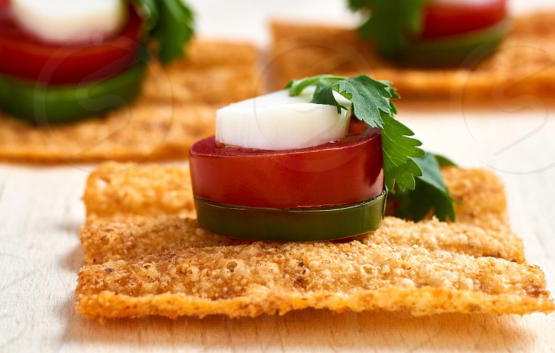 Sunchips with jalapeno cherry tomato cilantro and cheese photo