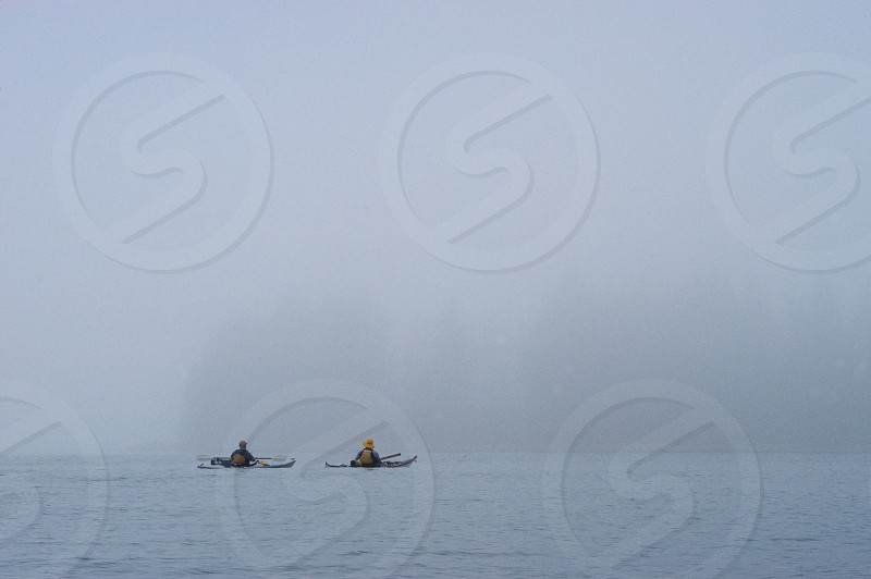 A Maine Kayak Event: Navigating in Fog photo