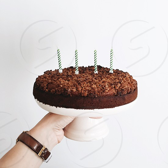 Birthday birthday cake candles banana cake minimal photo