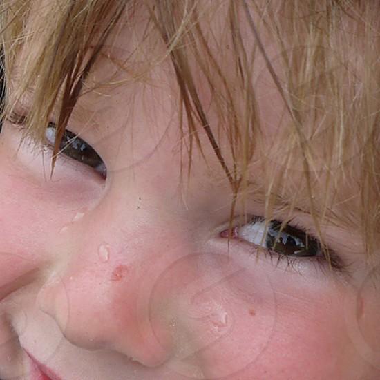 dark smiling eyes photo