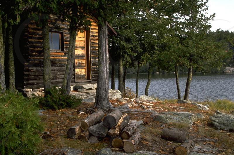 Lake Cabin British Columbia Canada photo