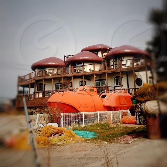 Rest houserestauranthouseboat photo